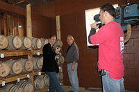 """Discussing the barrels with David Martin"""