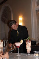 James creating a cocktail