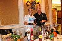 Michael Parrish(mixologist RNDC) & Dick 10-15-12